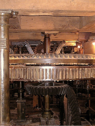 Mécanisme du Moulin du Val Dieu